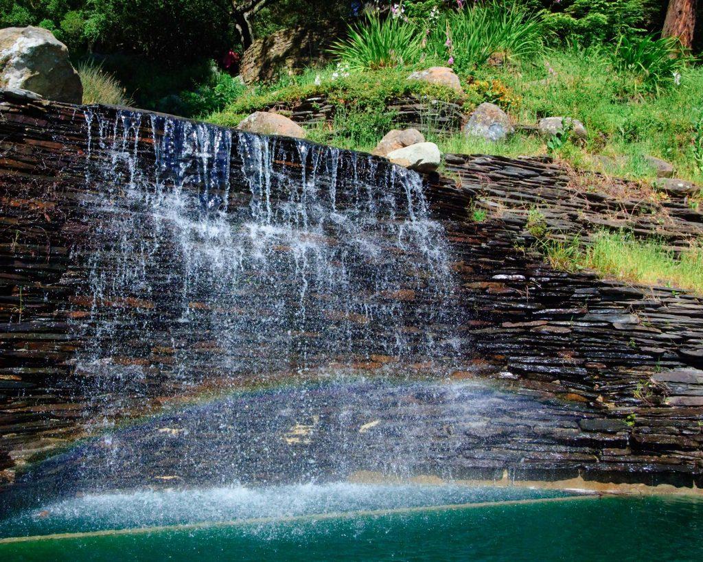 the cascade waterfall at joaquin miller park