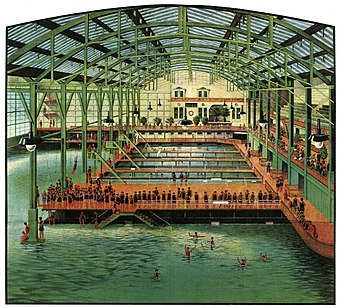 photo is an illustration of the sutra baths in their heyday