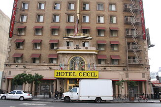 photo shows the facade of the cecil hotel